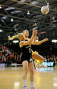 Laura Langman goes for the ball. Constellation cup netball. Silver Ferns v Australian Diamonds at ILT Velodrome, Invercargill, New Zealand. Sunday 15th september 2013. New Zealand. Photo: Richard Hood/photosport.co.nz