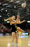 Laura Langman goes for the ball. Constellation cup netball. Silver Ferns v Australian Diamonds at ILT Velodrome, Invercargill, New Zealand. Sunday 15th september 2013. New Zealand. Photo: Richard Hood/photosport.co.nz