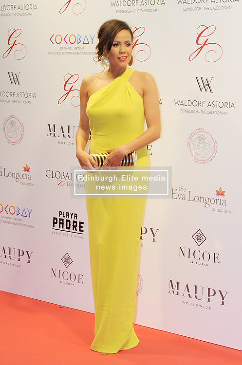 The Global Gift Gala Red Carpet, Wednesday 17th May 2017<br /> <br /> Jean Johansson arrives on the red carpet<br /> <br /> The Global Gift Gala is a unique international initiative from the Global Gift Foundation, a charity founded by Maria Bravo that is dedicated to philanthropic events worldwide; to help raise funds and make a difference towards children and women across the globe.<br /> <br /> Charities benefiting from the 2017 Edinburgh Global Gift Gala include the  Eva Longoria Foundation, which aims to improve education and provide entrepreneurial opportunities for young women;  Place2Be which provides emotional and therapeutic services in primary and secondary schools, building children's resilience through talking, creative work and play; and the Global Gift Foundation with the opening of their first 'CASA GLOBAL GIFT', providing medical treatments and therapy for children affected by rare disease.<br /> <br /> (c) Aimee Todd   Edinburgh Elite media