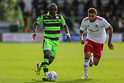 Forest Green Rovers Drissa Traoré(4) runs forward during the EFL Sky Bet League 2 match between Forest Green Rovers and Accrington Stanley at the New Lawn, Forest Green, United Kingdom on 30 September 2017. Photo by Shane Healey.