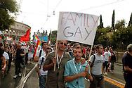 ROMA   GAY PRIDE 2007.LA SFILATA DEL GAY PRIDE,ORGOGLIO OMOSSESSUALE  PER LE VIE DELLA CITTA.