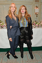 Left to right, LADY MARY CHARTERIS and JOSEPHINE DE LA BAUME at the launch of Mrs Alice in Her Palace - a fashion retail website, held at Fortnum & Mason, Piccadilly, London on 27th March 2014.