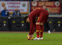 December 26, 2018 - Rome, Italy - Diego Perotti during the Italian Serie A football match between A.S. Roma and Sassuolo at the Olympic Stadium in Rome, on december 26, 2018. (Credit Image: © Silvia Lore/NurPhoto via ZUMA Press)