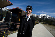 Conductor for the White Pass and Yukon Railway, Yukon Territory, Canada
