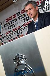 31.05.2010, Estadio Santiago Bernabeu, Madrid, ESP, Real Madrid, Präsentation Jose Mourinho im Bild Real Madrid's neuer Trainer Jose Mourinho, EXPA Pictures © 2010, PhotoCredit: EXPA/ Alterphotos/ Alvaro Hernandez / SPORTIDA PHOTO AGENCY
