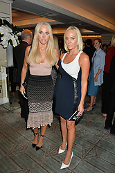 Left to right, CECILIE FREDRIKSEN and KATHRINE FREDRIKSEN at a the Fortnum's X Frank private view - an instore exhibition of over 60 works from Frank Cohen's collection at Fortnum & Mason, 181 Piccadilly, London on 12th September 2016.