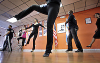 (CH) FL-el-argentinean-tango-CHg --Members of The Tango Times Dance Company are dancing during the practice of The Argentine Folk and Tango Show, at their studio in North Miami Beach on June 30, 2012. Saff photo/Cristobal Herrera Sun-Sentinel
