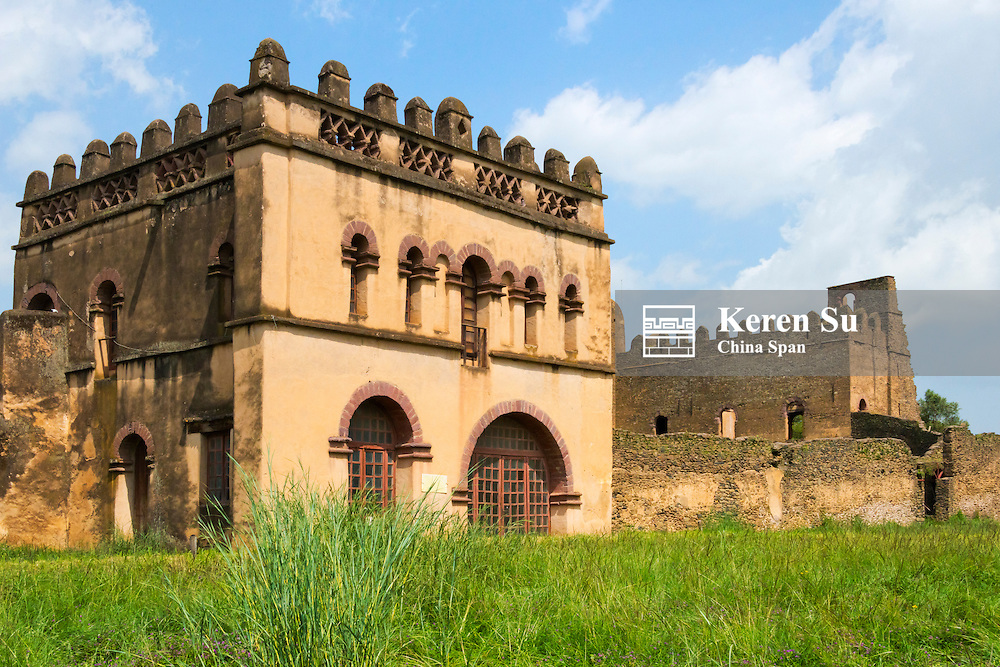 Fasil Compound and Bath in the fortress-city of Fasil Ghebbi (founded by Emperor Fasilides), UNESCO World Heritage site, Gondar, Ethiopia