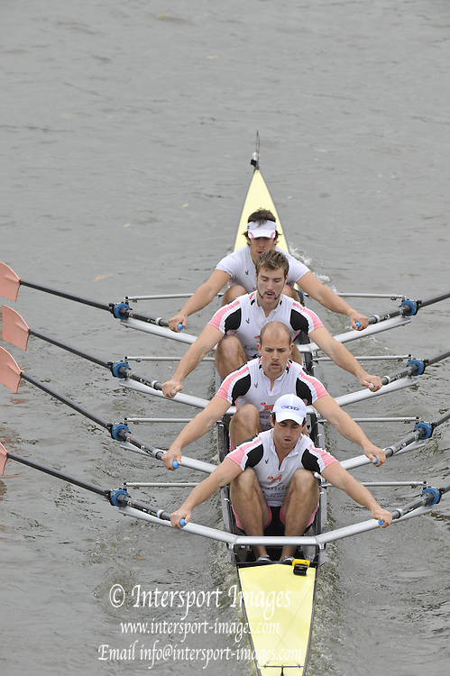 London, Great Britain,   Start No 51 LEANDER VIII. IM1 4x-. approach the start at Mortlake, Photo from Chiswick Bridge.  Fullers,  Fours Head of the River Race, Championship Course, Mortlake to Putney, River Thames. Saturday   05/11/2011   [Mandatory Credit. Peter Spurrier/Intersport Images]
