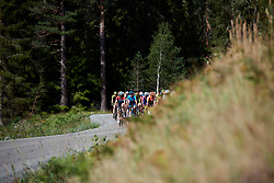 The peloton approach across the gravel during Ladies Tour of Norway 2019 - Stage 4, a 154 km road race from Svinesund to Halden, Norway on August 25, 2019. Photo by Sean Robinson/velofocus.com