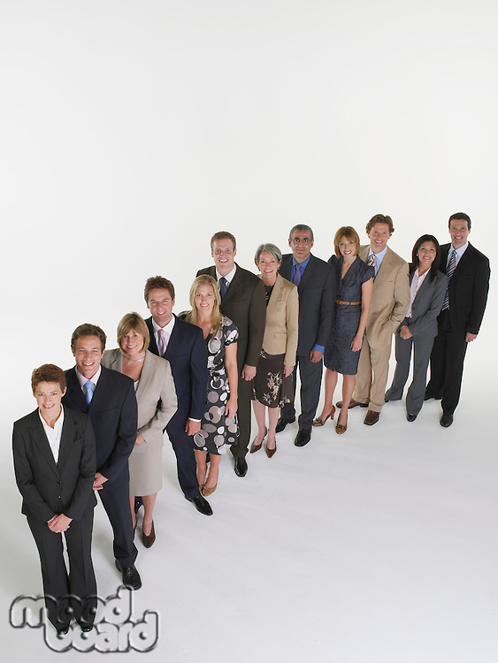 Group of Businesspeople Standing in Line