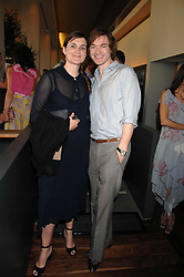 Writer & artist HARLAND MILLER and SOPHIE FIENNES at a dinner hosted by Vogue in honour of Antony Gormley held at the new Skylon restaurant at the refurbished Royal Festival Hall, South Bank, London on 22nd May 2007.<br />