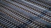 Railroad tracks near the Zurich main train station
