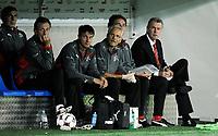 Nationaltrainer Ottmar Hitzfeld und die Betreuer. © Manu Friederich/EQ Images