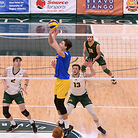 Men's Volleyball home game on February 3 at Centre for Kinesiology, Health and Sport. Credit: Arthur Ward/Arthur Images