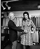 1971 -  Mr Leslie Vard and model at Doreen Dublin Ltd.