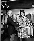 1971 -  Mr Leslie Vard and model at Doreen Dublin Ltd.