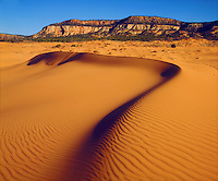 I wanted to take a photo of the arid climate of this desert region so I imaged these Utah sand dunes which are located at Coral Pink Sand Dunes.