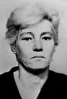 Elizabeth Douglas, senior, 41 years, who was jailed for 10 years, for her part in the murder on 24 July 1974 of 31 year old Anne Ogilby, originally from Sion Mills, Co Tyrone, N Ireland. She was charged along with nine other women and one man who received lesser sentences. Douglas, who was head of the women's UDA in Sandy Row, died in jail in 1979. 197502100130ED.<br />