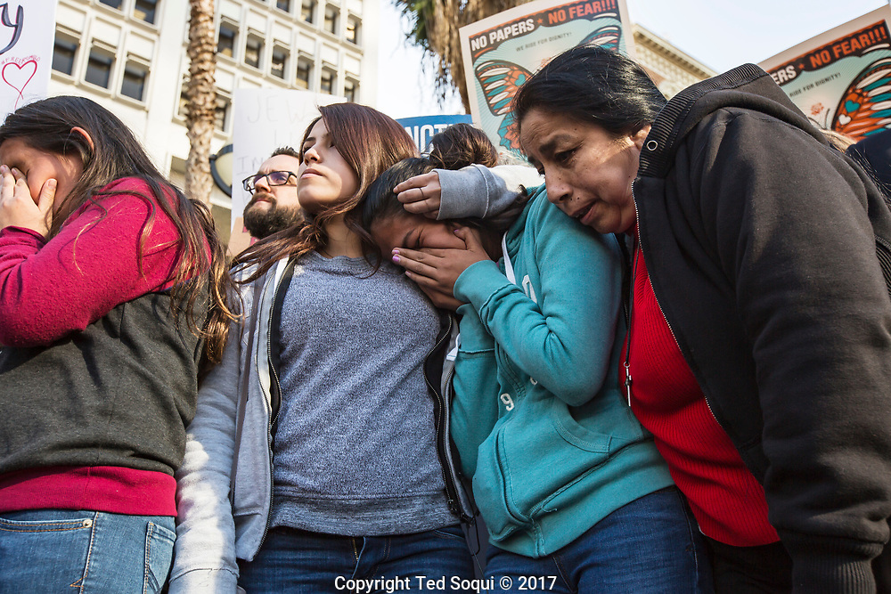 A rally will  held in support of Romulo Avelica-<br /> Gonzalez, a 48-year-old man who was arrested last week by Immigration and Customs Enforcement. The rally was held in from of the Immigration Court Building. Romulo's family was there.