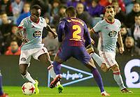 Celta de Vigo's Pione Sisto (l) and Jonny Castro (r) and FC Barcelona's Nelson Semedo during Spanish Kings Cup match. January 4,2018. (ALTERPHOTOS/Acero)