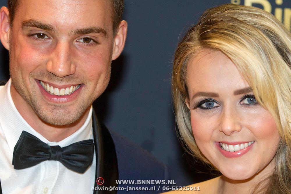 NLD/Amsterdam/20151015 - Televizier gala 2015, Monique Smit en partner Martijn Molleman