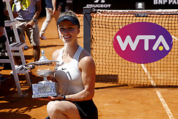 May 20, 2018 - Rome, Italy - Elina Svitolina of Ukraine poses with the trophy after the Women's Singles final match between Simona Halep and Elina Svitolina on Day Eight of the The Internazionali BNL d'Italia 2018 at Foro Italico on May 20, 2018 in Rome, Italy. (Credit Image: © Matteo Ciambelli/NurPhoto via ZUMA Press)