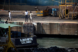 SRI LANKA COLOMBO 19MAR13 - Shipyard workers in Colombo dockyard, Sri Lanka. Colombo is the largest city and the commercial, industrial and cultural capital of Sri Lanka with a population of about 750,000 inhabitants.<br /> <br /> jre/Photo by Jiri Rezac<br /> <br /> © Jiri Rezac 2013