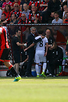 Football - 2016 / 2017 Premier League - AFC Bournemouth vs. Manchester United<br /> A pat on the back and and arm round the shoulder for Manchester United's Juan Mata from United Manager Jose Mourinho after being substituted at Dean Court (The Vitality Stadium) Bournemouth <br /> <br /> Colorsport/Shaun Boggust