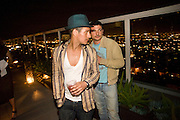 DAMIAN ANDERSON; MARCO COHEN; , Vanity fair and Bally's 'Hollywood Domino' party to benefit The Art of Elysium at the Andaz Hotel, Sunset Boulevard. West Hollywood. 20 February 2009 *** Local Caption *** -DO NOT ARCHIVE-&copy; Copyright Photograph by Dafydd Jones. 248 Clapham Rd. London SW9 0PZ. Tel 0207 820 0771. www.dafjones.com.<br /> DAMIAN ANDERSON; MARCO COHEN; , Vanity fair and Bally's 'Hollywood Domino' party to benefit The Art of Elysium at the Andaz Hotel, Sunset Boulevard. West Hollywood. 20 February 2009