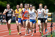 2011/05/28 - Nick Guarino of SUNY Fredonia leads the field in the 1500-meter final at the 2011 NCAA Division-3 Championships in Delaware, Ohio. Guarino won in 3:53.43, and later won the 800-meter run, making him the first Division-3 runner to win both events since Nick Symmonds in 2006.
