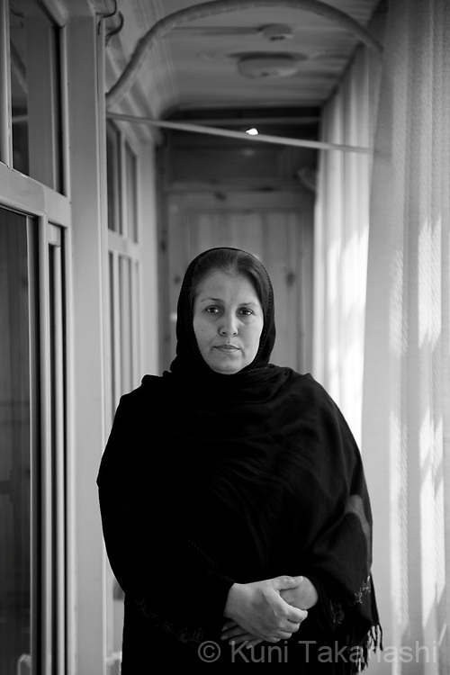 Arifa Sammandi, 44, Kabul (originally from Parwan), NGO worker .in Kabul, Afghanistan on Aug 25, 2011.(Photo by Kuni Takahashi)