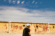 Salah Ameidan in the Sahrawi refugee camps in southwestern Algeria. Production still from the documentary The Runner.