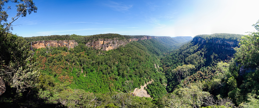 Panoramic shot of Fitzroy Falls in the Kangaroo Valley near Sydney
