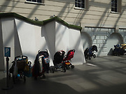 Buggy parking, Greenwich maritime museum, London, 17 April 2018