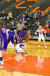 29 December 2015:  Peoria Christian Chargers v El Paso Gridley Titans.  Officials for the game - JD Coleman, Tony Robbins, Tim Griffin.  State Farm Holiday Classic Coed Basketball Tournament at Normal Community High School, Normal Illinois- Day 2 Small School Girls