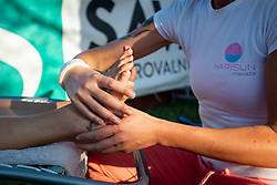 Sponsorship activation of HARISUN at ATP Challenger Zavarovalnica Sava Slovenia Open 2018, on August 4, 2018 in Sports centre, Portoroz/Portorose, Slovenia. Photo by Urban Urbanc / Sportida