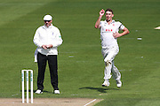 Essex bowler Matt Dixon during the Specsavers County Champ Div 2 match between Sussex County Cricket Club and Essex County Cricket Club at the 1st Central County Ground, Hove, United Kingdom on 17 April 2016. Photo by Bennett Dean.
