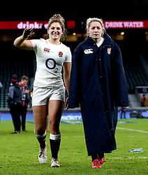 Amy Wilson Hardy of England and Natasha Hunt of England - Mandatory by-line: Robbie Stephenson/JMP - 04/02/2017 - RUGBY - Twickenham - London, England - England v France - Women's Six Nations