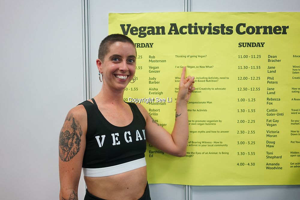 Judy Barber - What do Vegans, including Activists, need to know about Plant-Based Nutrition? at Olympia London on the 21st October 2017