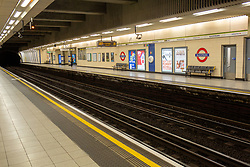 The tube station in Blackfriars, London.<br /> <br /> Some parts of central London are being left unusually quiet at times as consideration is given to social distancing during the COVID-19 pandemic.