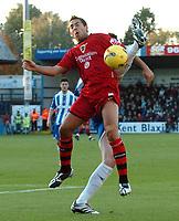 Photo: Ashley Pickering.<br />Colchester United v Cardiff City. Coca Cola Championship. 04/11/2006. <br />Cardiff's Michael Chopra.