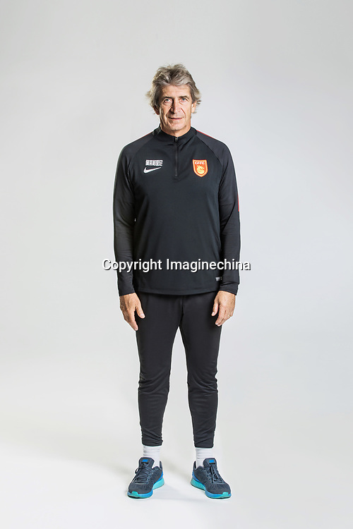 **EXCLUSIVE**Portrait of head coach Manuel Pellegrini of Hebei China Fortune F.C. for the 2018 Chinese Football Association Super League, in Marbella, Spain, 26 January 2018.