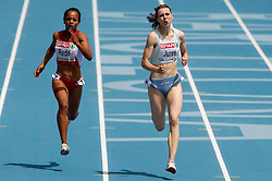 Meliz Redif of Turkey and Tina Jures of Slovenia compete in the Womens 200m Heat during day four of the 20th European Athletics Championships at the Olympic Stadium on July 30, 2010 in Barcelona, Spain. (Photo by Vid Ponikvar / Sportida)
