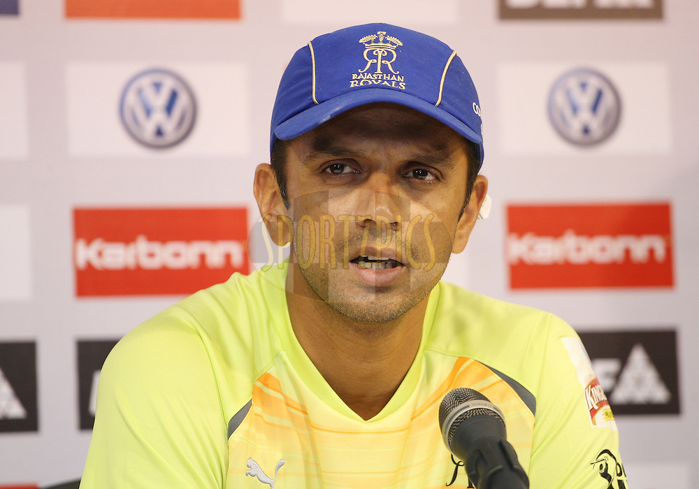 Rahul Dravid during the press conference of the Chennai Super Kings and Rajasthan Royals practice sessions held at the MA Chidambaram Stadium in Chennai, Tamil Nadu, India on the 3 May 2011..Photo by Jacques Rossouw/BCCI/SPORTZPICS .