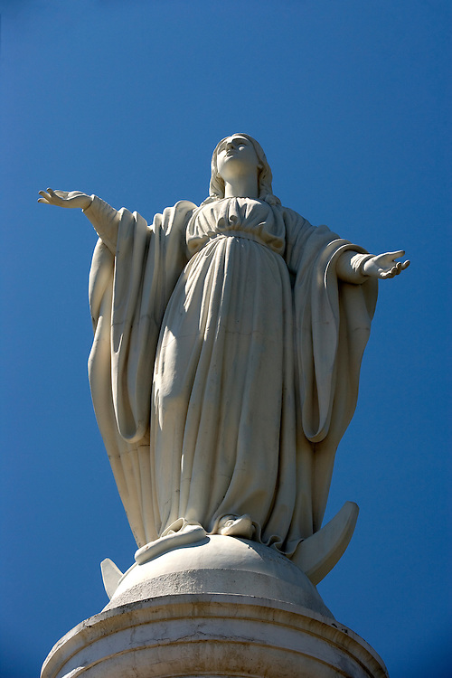 Statue of the Virgin, Cerro San Cristobal, Santiago, Chile