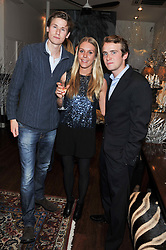 Left to right, CHARLES DANIEL, VICTORIA DASHWOOD and NICHOLAS WALKER at the Lewa Wildlife Conservancy debate held at Patrick Mavros, 104-106 Fulham Road, London on 21st November 2012.
