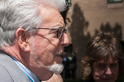 London, June 20th 2014. Entertainer and artist Rolf Harris arrives at Southwark Crown Court as the jury in his trial on twelve charges of indecent assault against four girls continues its deliberations.