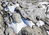 Detail of ice, snow and rock, Enchantment Lakes Wilderness Area, Washington Cascades, USA.