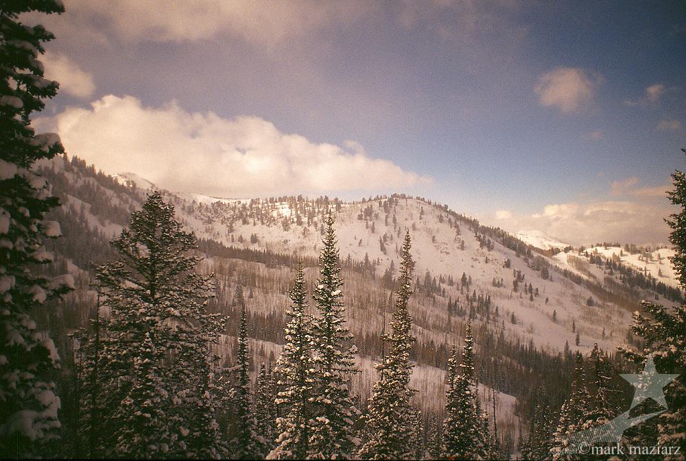 winter scenic at The Canyons, Park City, Utah, USA